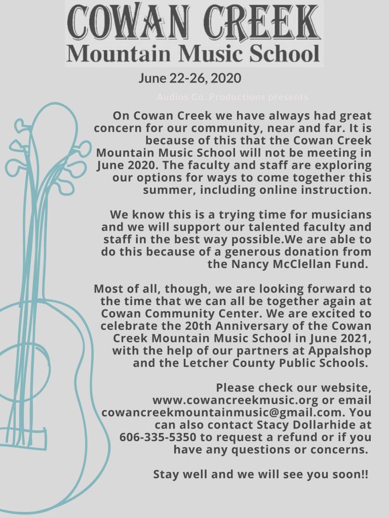 CCMMS 2020 Announcement